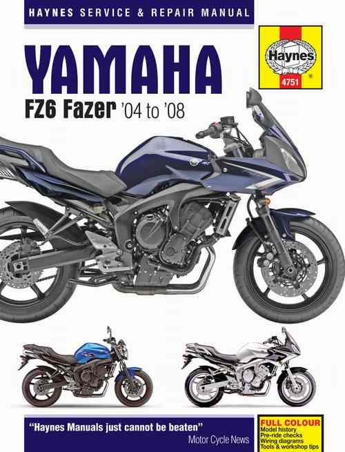 Yamaha FZ6 Fazer 2004 - 2008 Haynes Owners Service & Repair Manual - Front Cover