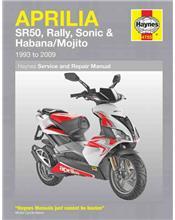Aprilia SR50, Rally, Sonic & Habana / Mojito Scooters 1993 - 2009