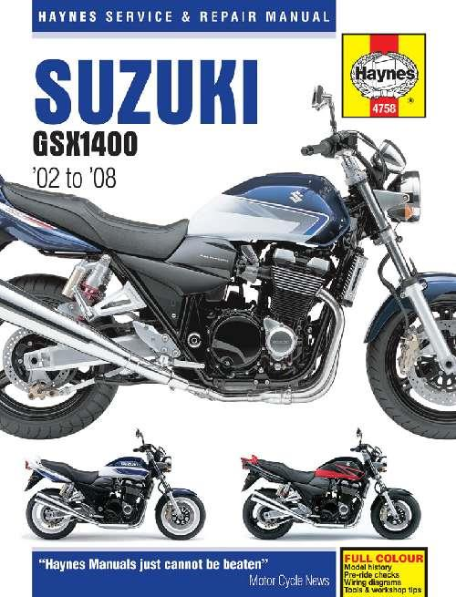 Suzuki GSX1400 2002 - 2008 Haynes Owners Service & Repair Manual