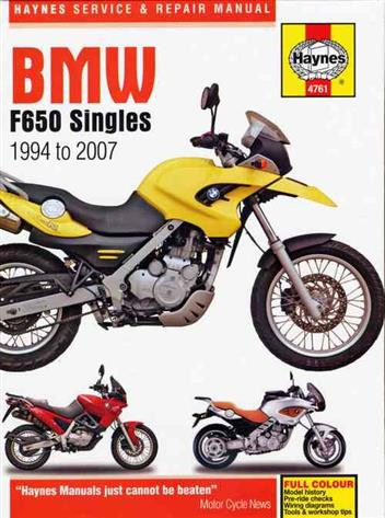 BMW F650 Singles 1994 - 2007 Haynes Owners Service & Repair Manual - Front Cover
