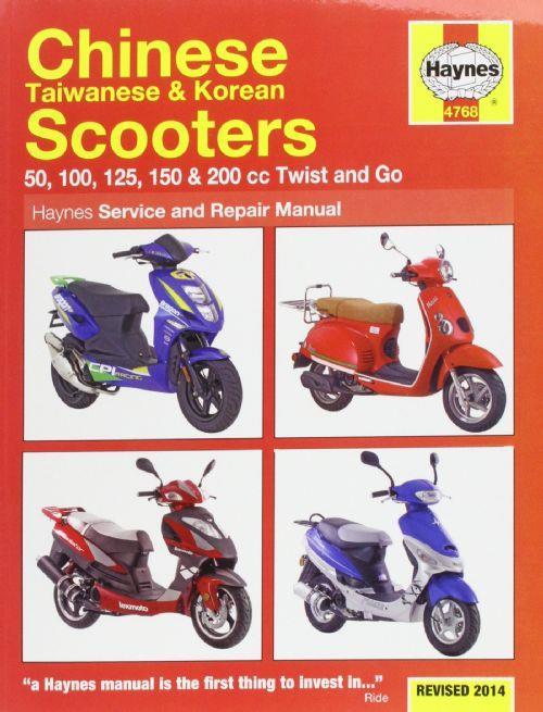 Chinese, Taiwanese & Korean Scooters Haynes Service and Repair Manual - Front Cover