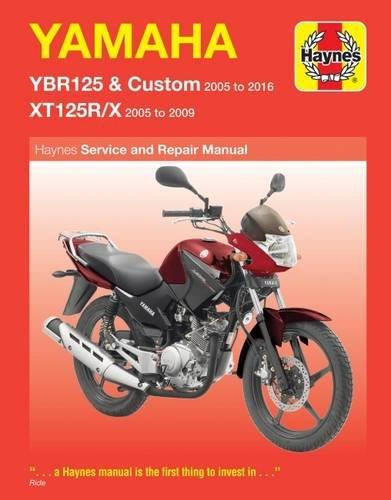 Yamaha YBR125 & XT125R / X 2005 - 2016 Haynes Owners Service & Repair Manual