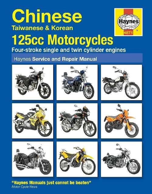 Chinese, Taiwanese and Korean 125cc Motorcycles Haynes Service and Repair Manual - Front Cover
