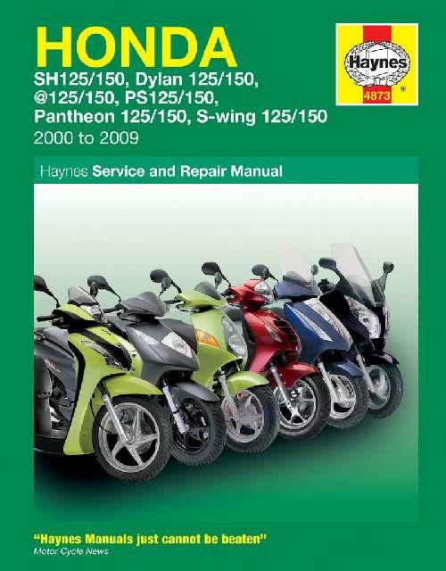 Honda 125 Scooters 2000 - 2009 Haynes Owners Service & Repair Manual