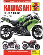Kawasaki ER-6f and ER-6n 2006 - 2016 Haynes Owners Service & Repair Manual
