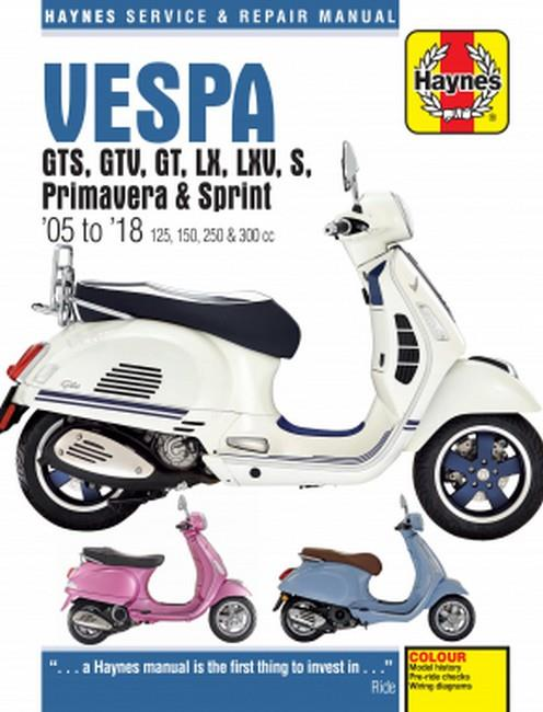 Vespa Scooters GTS, GTV, LX, LXV, S 2005 - 2014 - Front Cover