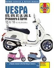 Vespa Scooters GTS, GTV, LX, LXV, S 2005 - 2014