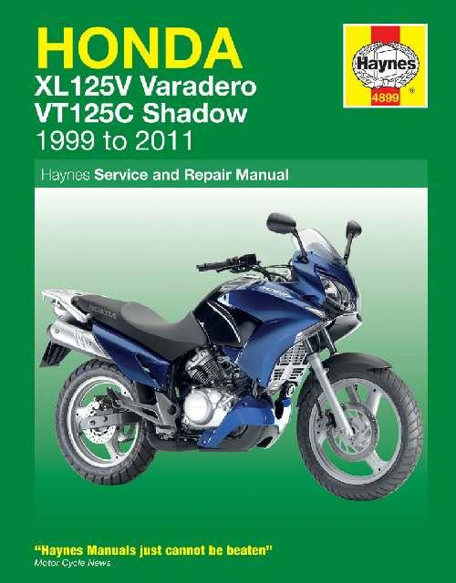 Honda XL125V & VT125C Shadow 1999 - 2011 Haynes Owners Service & Repair Manual