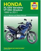 Honda XL125V & VT125C Shadow 1999 - 2011 Haynes Owners Service & Repair Manual