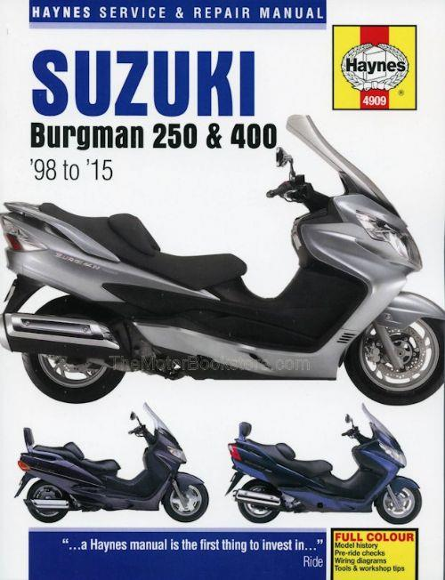 Suzuki Burgman 250 & 400 1998 - 2015 Haynes Owners Service & Repair Manual - Front Cover