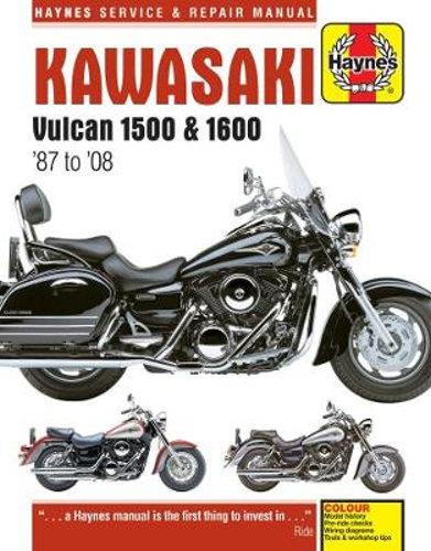 Kawasaki Vulcan 1500 & 1600 1987 - 2008 Haynes Owners Service & Repair Manual - Front Cover