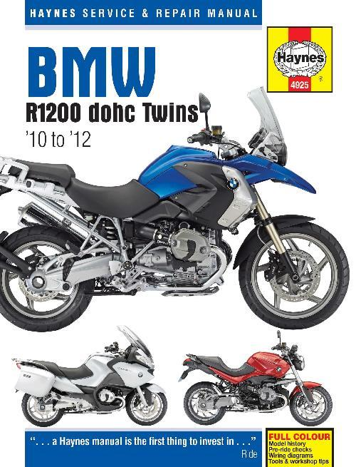 BMW R1200 DOHC 2010 - 2012 Haynes Owners Service & Repair Manual - Front Cover