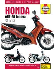 Honda ANF125 Innova 2003 - 2012 Haynes Owners Service & Repair Manual