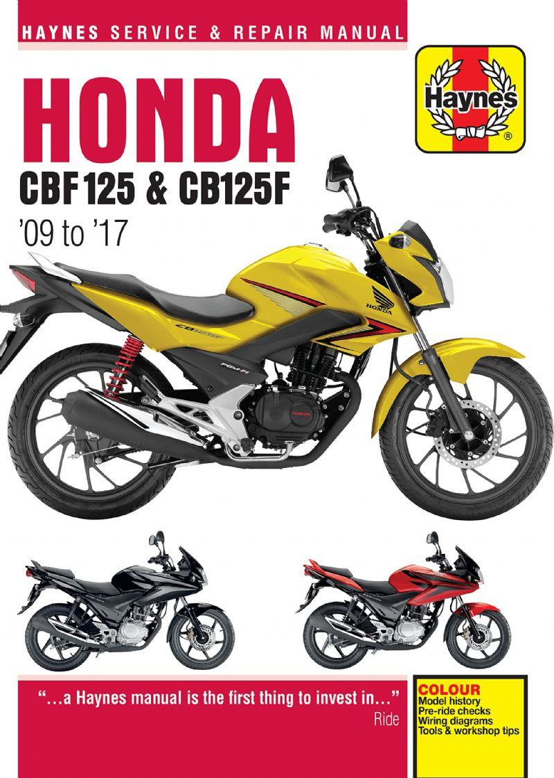 Honda CBF125 2009 - 2017 Haynes Owners Service & Repair Manual - Front Cover