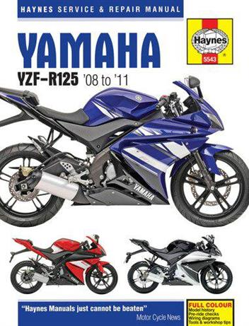 Yamaha YZF-R125 2008 - 2011 Haynes Owners Service & Repair Manual - Front Cover