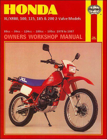 Honda XL/XR80, 100, 125, 185 and 200 2 Valve Models, 1978 - 1987