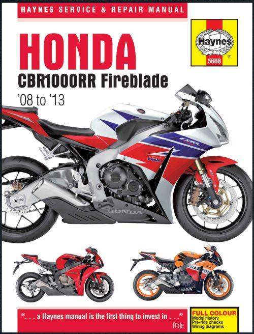 Honda CBR1000RR Fireblade 2008 - 2013 Haynes Owners Service & Repair Manual - Front Cover