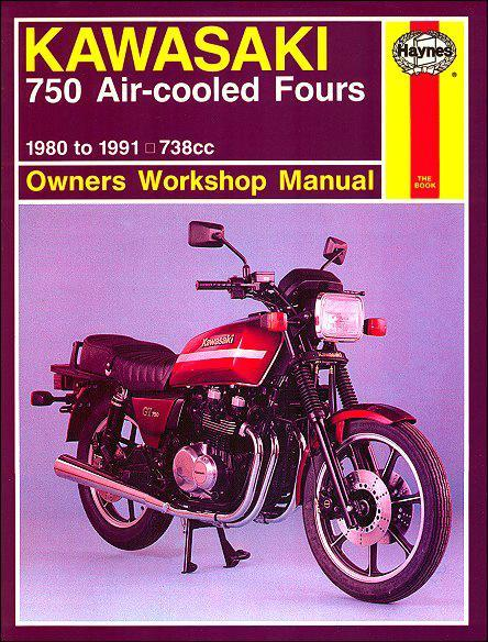 Kawasaki 750 Air-cooled Fours 1980 - 1991 Haynes Owners Service & Repair Manual - Front Cover