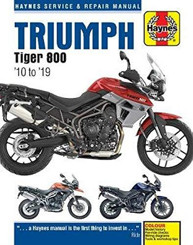 Triumph Tiger 800 2010 - 2014 Haynes Owners Service & Repair Manual - Front Cover