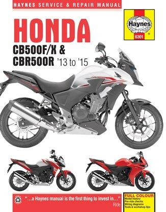 Honda CB500F/X & CBR500R 2013 - 2015 Haynes Owners Service & Repair Manual