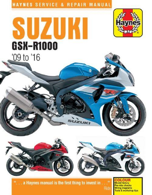 Suzuki GSX-R1000 2009 - 2016 Haynes Owners Service & Repair Manual - Front Cover