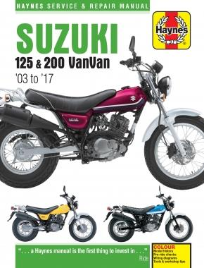 Suzuki RV125 & RV200 VanVan 2003 - 2017 Haynes Owners Service & Repair Manual - Front Cover