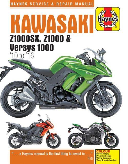 Kawasaki Z1000SX, Z1000 & Versys 2010-2016 Haynes Owners Service & Repair Manual - Front Cover