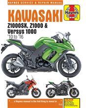 Kawasaki Z1000SX, Z1000 & Versys 2010-2016 Haynes Owners Service & Repair Manual