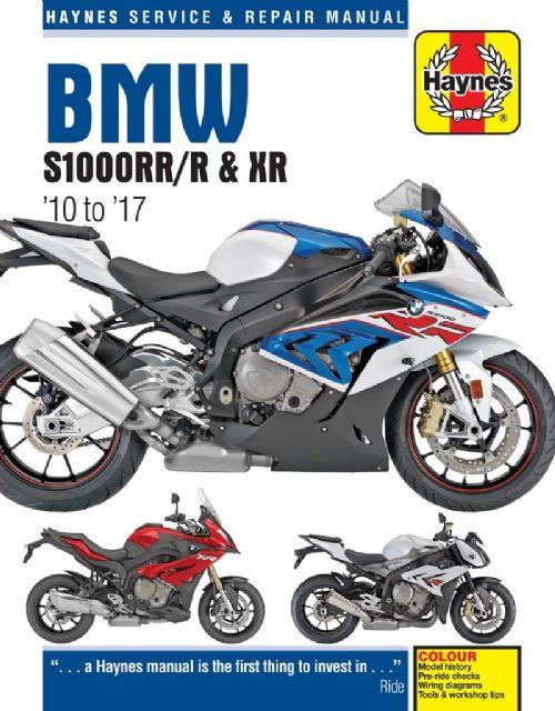 BMW S1000RR/R & XR 2010 - 2017 Haynes Owners Service & Repair Manual - Front Cover