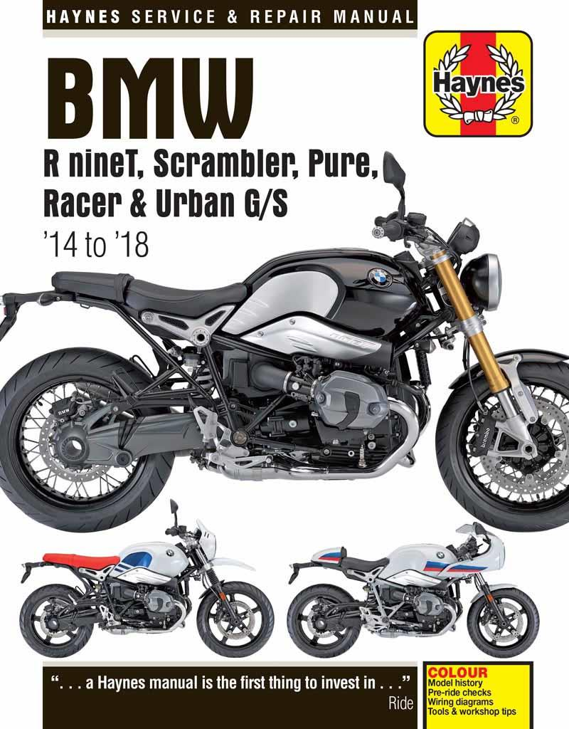 BMW R nineT 2014 - 2018 Haynes Owners Service & Repair Manual