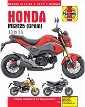 Honda MSX125 (Grom) 2013 - 2018 Haynes Owners Service & Repair Manual