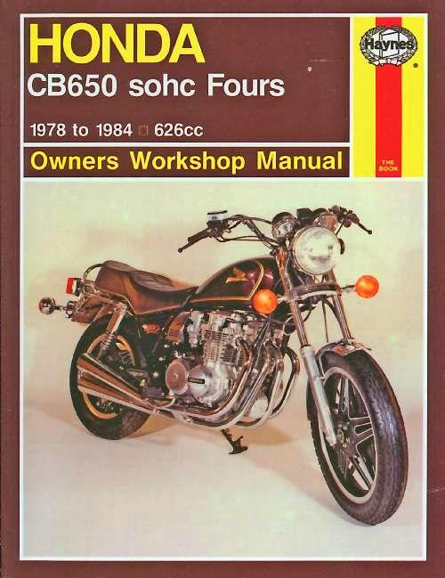 Honda CB650 Fours 1978 - 1984 Haynes Owners Service & Repair Manual - Front Cover