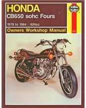 Honda CB650 Fours 1978 - 1984 Haynes Owners Service & Repair Manual