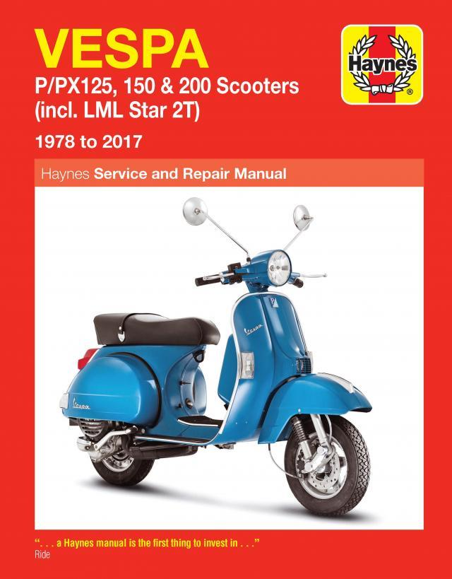 Vespa P / PX125, 150 & 200 Scooters (incl. LML Star 2T) 1978 - 2014 - Front Cover