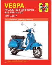 Vespa P / PX125, 150 & 200 Scooters (incl. LML Star 2T) 1978 - 2014