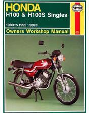 Honda H100 & H100S Singles 1980 - 1992 Haynes Owners Service & Repair Manual