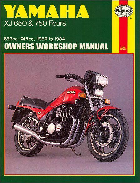 Yamaha XJ650 & 750 Fours 1980 - 1984 Haynes Owners Service & Repair Manual - Front Cover