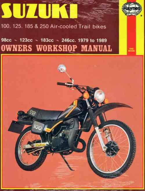 Suzuki TS100, TS125, TS185, TS250 Air-cooled Trail Bikes 1979 - 1989 - Front Cover