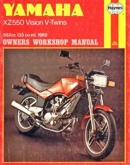 Yamaha XZ550 Vision V-Twins 1982 - 1985 Haynes Owners Service & Repair Manual