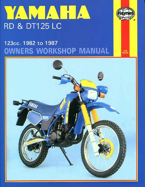 Yamaha RD & DT125LC 1982 -1987 Haynes Owners Service & Repair Manual - Front Cover