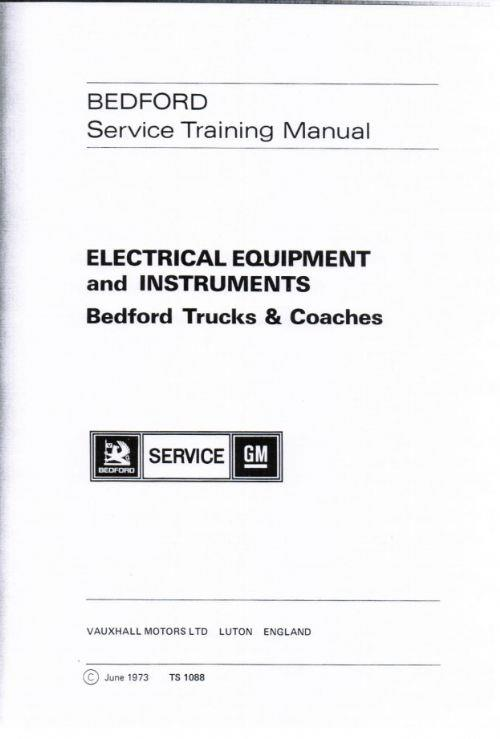 Bedford Trucks & Coaches Service Training Manual