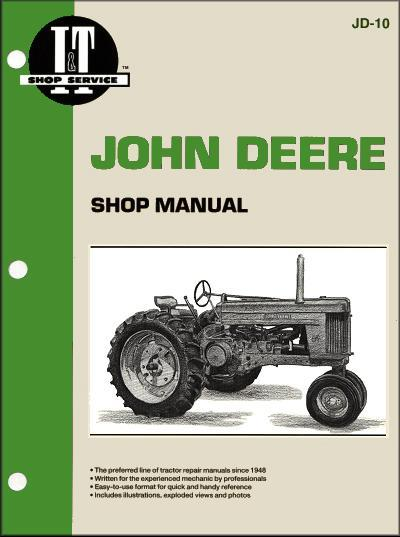 John Deere Farm 1952 - 1956 Tractor Owners Service & Repair Manual - Front Cover