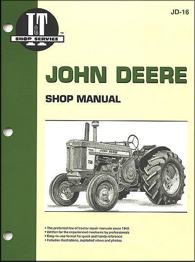 John Deere 1956 - 1961 Farm Tractor Owners Service & Repair Manual - Front Cover