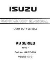 Holden Rodeo Petrol & Diesel 1985 - 1988 Factory Workshop Manual