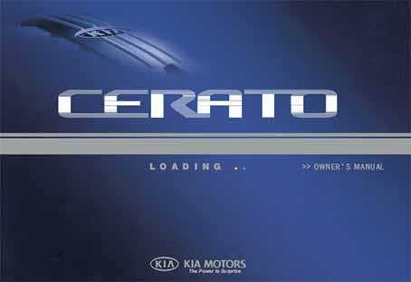 Kia Cerato TD 2009 Owners Manual - Front Cover