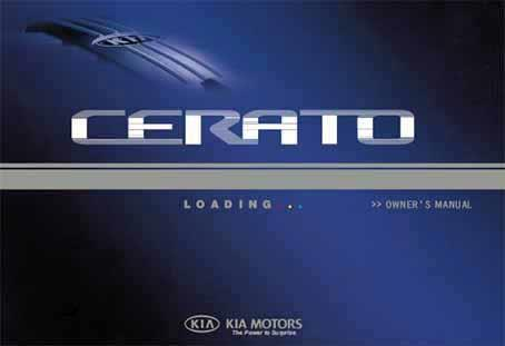 Kia Cerato 2004 Owners Manual