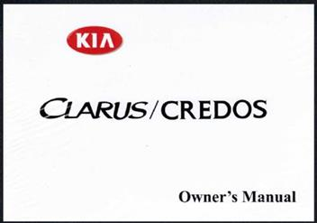 Kia Clarus / Credos GC 1999 Owners Manual Factory Publicatio