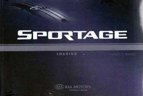 Kia Sportage 2002 Owners Manual - Front Cover