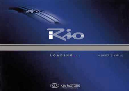 Kia Rio BC 2003 Owners Manual L