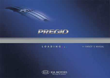 Kia Pregio CT 2005 Owners Manual